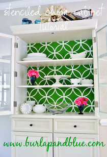 Stenciled China Cabinet