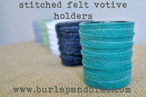 Stitched Felt Votive Holders