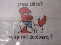 Cross Stitch? Why Not Zoidberg?