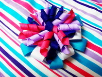 Korker Flower Hair Bow