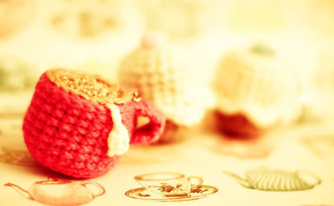 Crochet Tea & Cupcake Keyrings