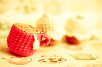 Crochet Tea &amp; Cupcake Keyrings