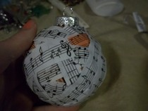 Music Covered Ornament