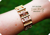 Diy Glitter Door Hinge Bracelet