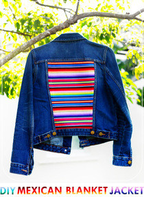 Diy Mexican Blanket Denim Jacket