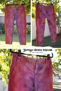 Bottega Veneta Runway Inspired Tie Dye Pants