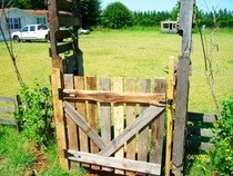 Wood Pallet Gate