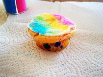 Rainbow Sprinkle Cup Cake