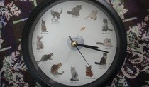 Meowing Cat Clock!