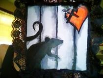 Plaque Rat Painting