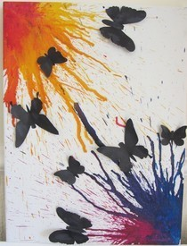 Butterfly Silhouettes On Wax