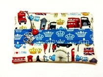 I &lt;3 London Gathered Clutch