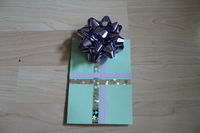 How to embellish a bow card. Birthday Card (With The Present!) - Step 5