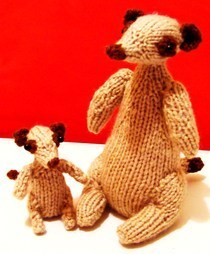 Knitted Meerkats