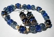 Blue Bracelet & Earrings