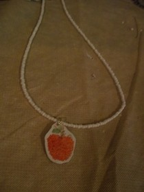 Apple Sticker Necklace