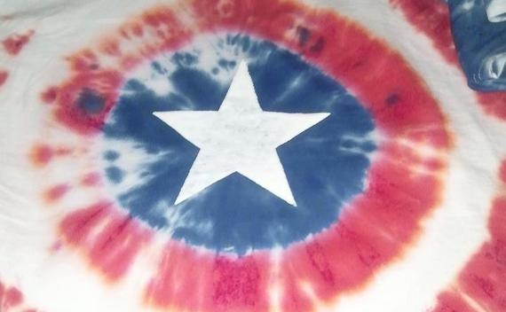 Captain America Tie Dye Shirt