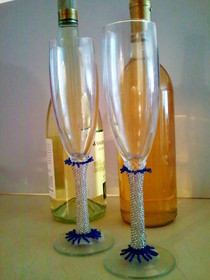 Decorated Champagne Flutes