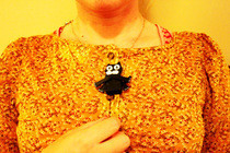 'Old Skool' Wooden Kit Cat (Clock) Toy Necklace