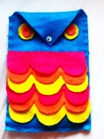 Retro Owl Sunglass Case