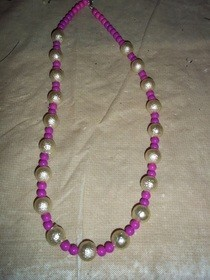 Two Color Beaded Necklace