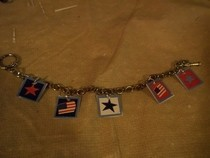 Stars And Stripes Charm Bracelet