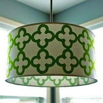 Quatrefoil Drum Shade Pendant Light
