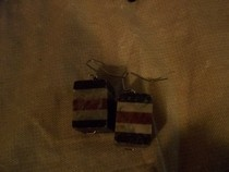 Striped Cube Earrings
