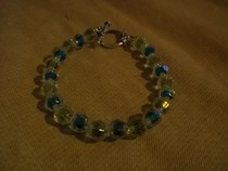 Green And Blue Crystal Bracelet