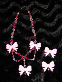 Pink Bows Necklace