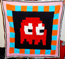 Pac Man Ghost Quilt