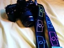 Embroidered Camera Silhouette Strap