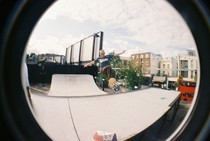 Fish Eye Skateboarder