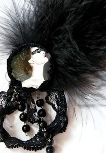 Black Swan Fascinator