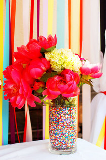 Sprinkle Filled Nested Vases