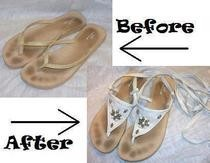 Flip Flop To Sandal Refashion