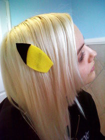 Pikachu Ear Hair Clips