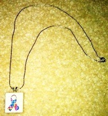 Autism Awareness Scrabble Tile Necklace