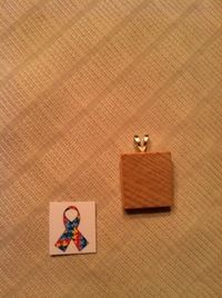 How to make a tile pendant. Autism Awareness Scrabble Tile Necklace - Step 2