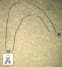 How to make a tile pendant. Autism Awareness Scrabble Tile Necklace - Step 7
