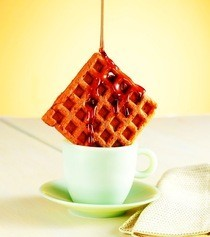 Cappuccino Waffles With Coffee Syrup