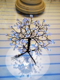 Opal And Black Wire Tree