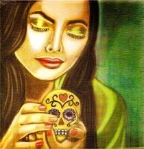 Day Of The Dead Oil Painting