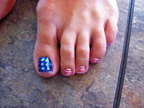Fourth Of July Toes!