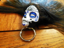 Sugar Skull Barbie Keychain