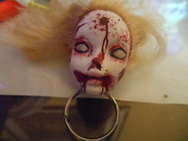 Zombie/Monster Barbie Keychain
