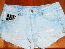 Diy Studded Back Pocket Jean Shorts