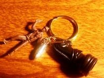 Manly Man Keychain