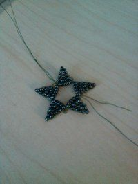 How to bead a model. Beaded Star - Step 4