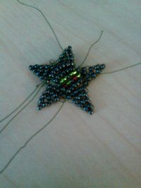How to bead a beaded shape. Beaded Star - Step 8